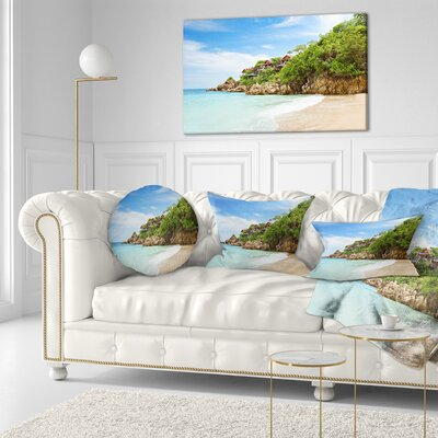 Resorts on the Rock Seascape Throw Pillow Size: 16 x 16