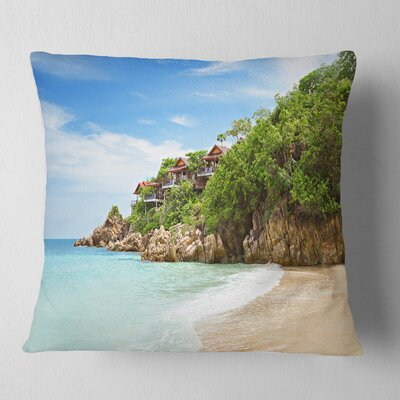 Resorts on the Rock Seascape Pillow Size: 26 x 26, Product Type: Euro Pillow