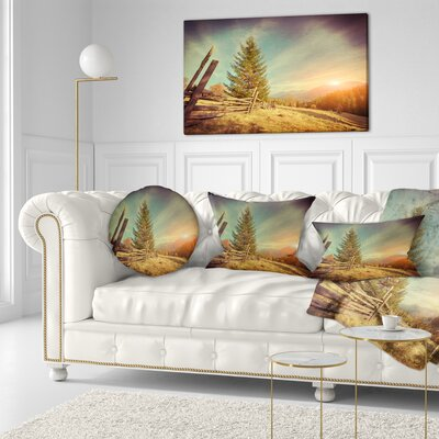 Autumn in Mountains Landscape Photo Throw Pillow Size: 20 x 20