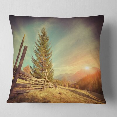 Autumn in Mountains Landscape Photo Pillow Size: 18 x 18, Product Type: Throw Pillow