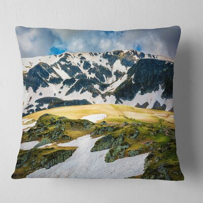Rila Lakes and Mountains in Bulgaria Landscape Printed Pillow Size: 26 x 26, Product Type: Euro Pillow