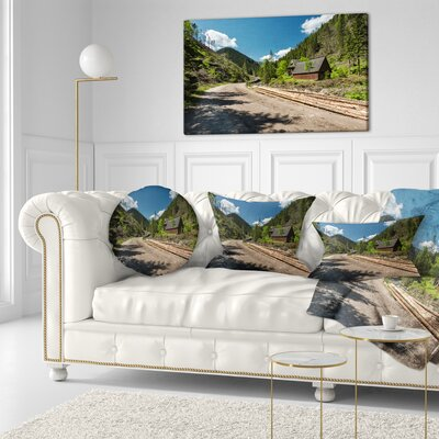 Road in Chocholowska Valley Landscape Printed Throw Pillow Size: 16 x 16