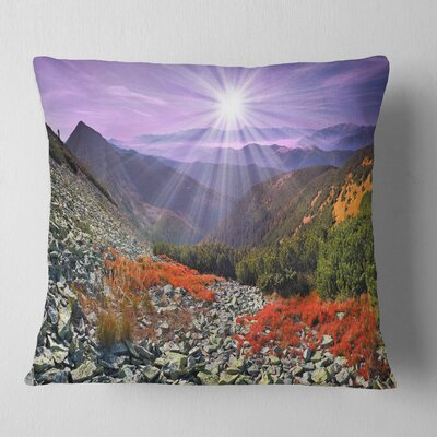 Rocky and Carpathian Landscape Photo Pillow Size: 16 x 16, Product Type: Throw Pillow