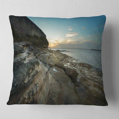 Rocky Sydney Beach View Seascape Pillow Size: 18 x 18, Product Type: Throw Pillow