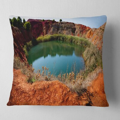 Bauxite Mine with Lake Landscape Photo Pillow Size: 26 x 26, Product Type: Euro Pillow