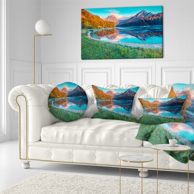 Beautiful Swiss Lake Obersee Landscape Photography Throw Pillow Size: 20 x 20