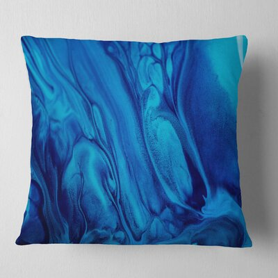 Abstract Acrylic Paint Mix Pillow Size: 26 x 26, Product Type: Euro Pillow