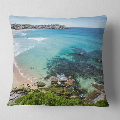 Expansive Sydney Bondi Beach Seashore Pillow Size: 18 x 18, Product Type: Throw Pillow