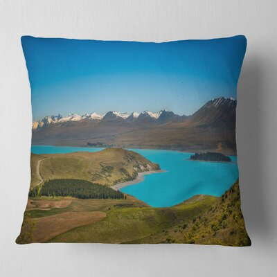 Fantastic Calm Landscape of New Zealand Landscape Printed Pillow Size: 16 x 16, Product Type: Throw Pillow