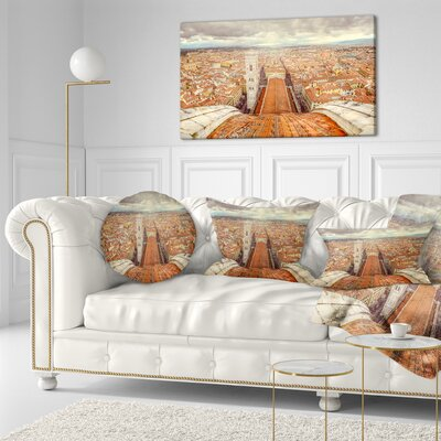 Florence View from Duomo Cathedral Cityscape Throw Pillow Size: 20  x 20