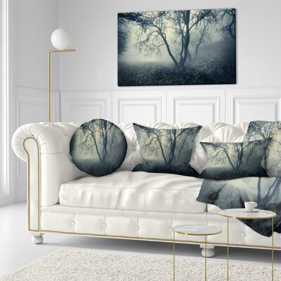 Forest in Morning Landscape Photography Throw Pillow Size: 20 x 20