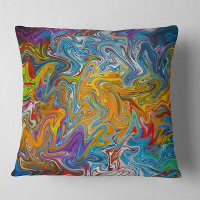 Fractal Flowing Contemporary Pillow Size: 18 x 18, Product Type: Throw Pillow