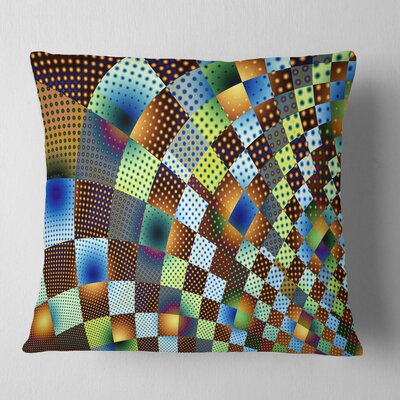 Fractal Geometric Ornament Design Contemporary Pillow Size: 18 x 18, Product Type: Throw Pillow