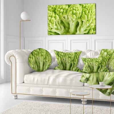Fresh Romanesco Florets Floral Throw Pillow Size: 16 x 16