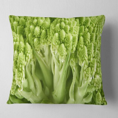 Fresh Romanesco Florets Floral Pillow Size: 18 x 18, Product Type: Throw Pillow