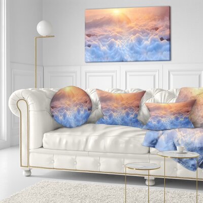 Frosty Carpathian Mountains Landscape Photo Throw Pillow Size: 16 x 16