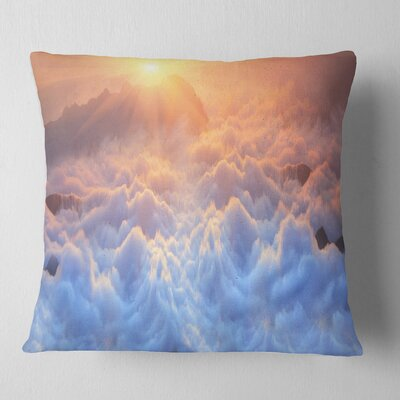 Frosty Carpathian Mountains Landscape Photo Pillow Size: 16 x 16, Product Type: Throw Pillow