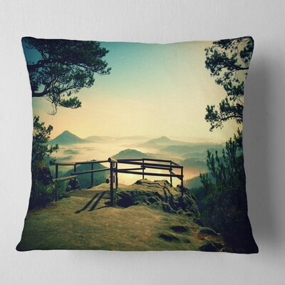Full Moon Autumn Midnight Landscape Photo Pillow Size: 18 x 18, Product Type: Throw Pillow