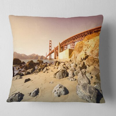 Gate in Bright Day Landscape Printed Pillow Size: 18 x 18, Product Type: Throw Pillow