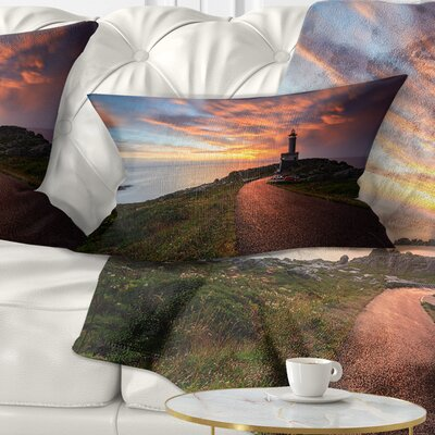 Punta Nariga Lighthouse Spain Seashore Photo Pillow Size: 12 x 20, Product Type: Lumbar Pillow