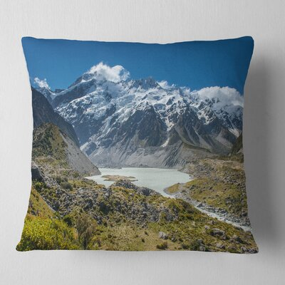 Mountains New Zealand Landscape Printed Pillow Size: 26 x 26, Product Type: Euro Pillow