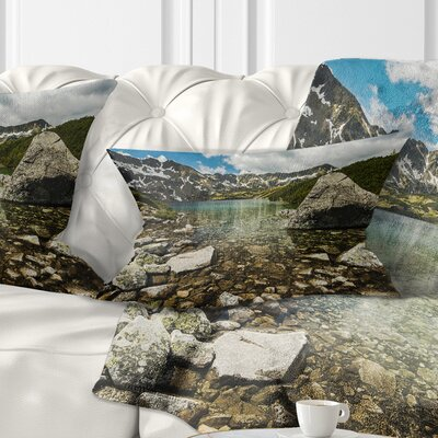 Pond in Five Lakes Valley Landscape Printed Pillow Size: 12 x 20, Product Type: Lumbar Pillow