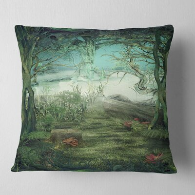 Forest Glade Landscape Printed Pillow Size: 26 x 26, Product Type: Euro Pillow
