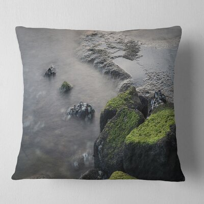 Rocks in Beautiful Sydney Coastline Seashore Pillow Size: 18 x 18, Product Type: Throw Pillow