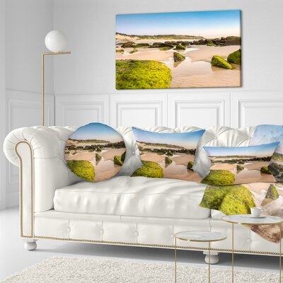 Rocky Seashore at Norah Head Seashore Throw Pillow Size: 20 x 20