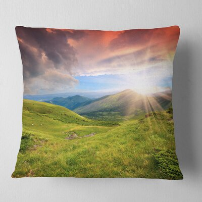 Summer in Carpathians Landscape Photo Pillow Size: 18 x 18, Product Type: Throw Pillow