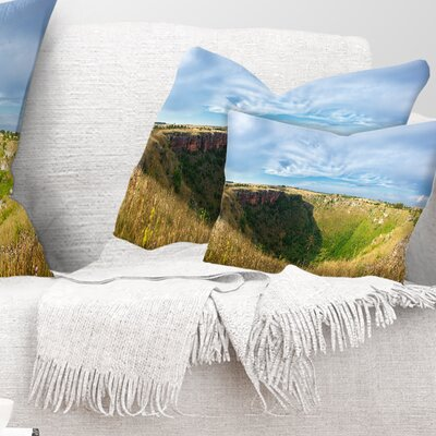Pulo Di Altamura Panorama Landscape Printed Pillow Size: 12 x 20, Product Type: Lumbar Pillow