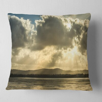 Heavy Clouds over Foreshore Reserve Seashore Pillow Size: 18 x 18, Product Type: Throw Pillow