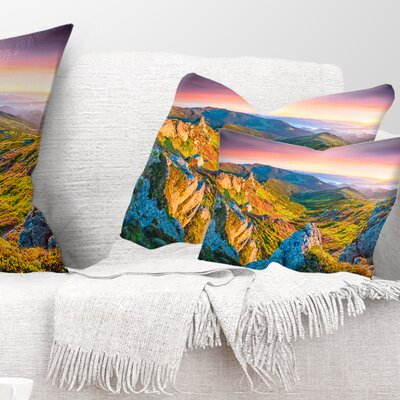 Rhododendron Flowers Landscape Photo Pillow Size: 12 x 20, Product Type: Lumbar Pillow