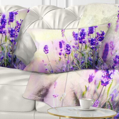 Field Floral Photography Pillow Size: 12 x 20, Product Type: Lumbar Pillow