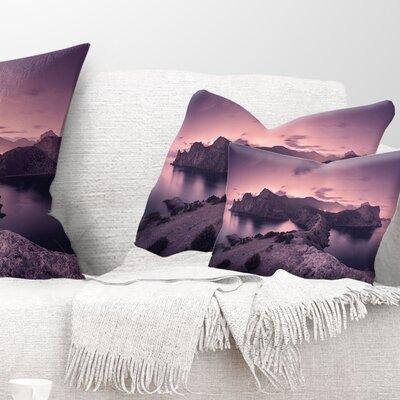 Night Sky at Mountains Landscape Photography Pillow Size: 12 x 20, Product Type: Lumbar Pillow