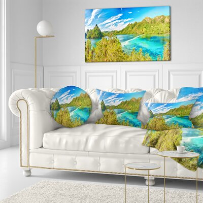 Snake Island Panorama Landscape Photo Throw Pillow Size: 20 x 20