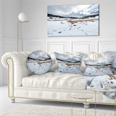 Snow Mountains in Kosciuszko Park Landscape Printed Throw Pillow Size: 16 x 16