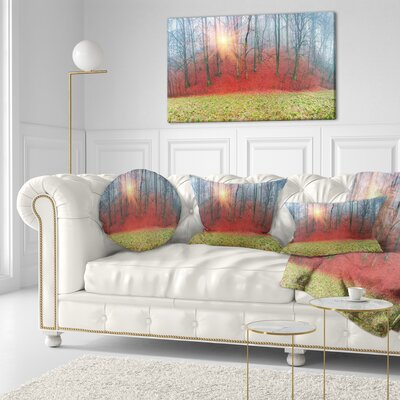 Spring Flowers with Snowdrops Landscape Photography Throw Pillow Size: 20 x 20