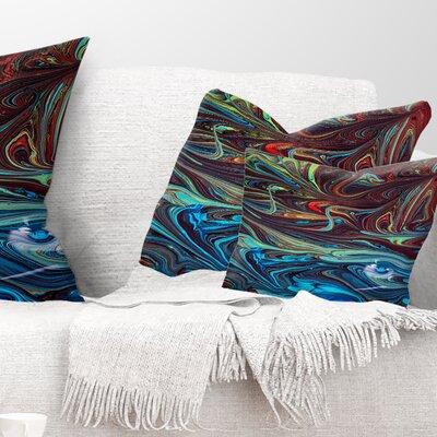 Abstract Acrylic Paint Mix Pillow Size: 12 x 20, Product Type: Lumbar Pillow