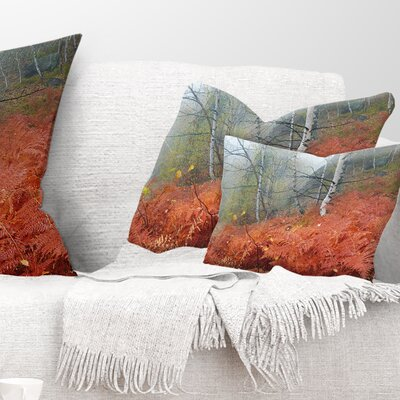 Fern in Foggy Fall Fay Landscape Photo Pillow Size: 12 x 20, Product Type: Lumbar Pillow