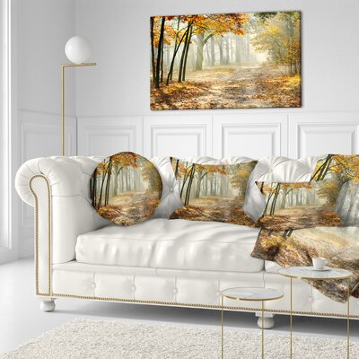 Bright Fall Morning Landscape Photo Throw Pillow Size: 20 x 20