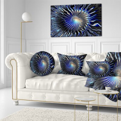 Rays from the Circle Contemporary Throw Pillow Size: 20 x 20