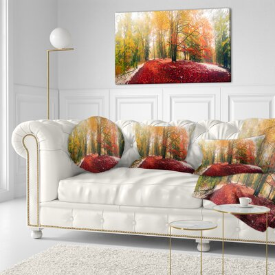 Alpine Forest After Snowfall Landscape Photo Throw Pillow Size: 20 x 20