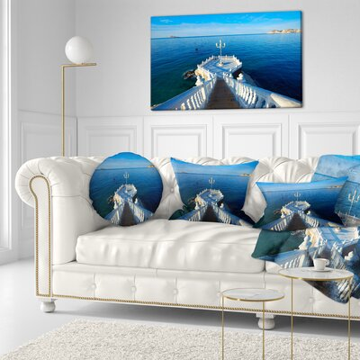 Benidorm Mirador Del Castillo Lookout Point Seascape Throw Pillow Size: 20 x 20