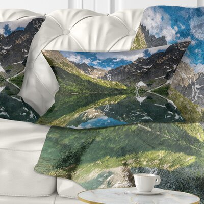 Reflection of Mountain Peaks Landscape Printed Pillow Size: 12 x 20, Product Type: Lumbar Pillow