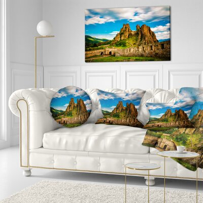 Belogradchik Fortress and Cliffs Bulgaria Landscape Printed Throw Pillow Size: 16