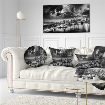 Amazing Night in New York City Cityscape Throw Pillow Size: 20 x 20