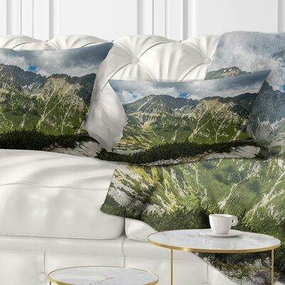 Panoramic Vista over Mountains Landscape Printed Pillow Size: 12 x 20, Product Type: Lumbar Pillow