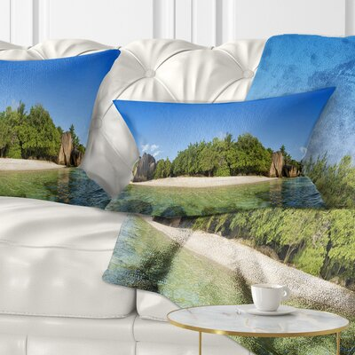 Paradise on Earth Seychelles Island Seashore Pillow Size: 12 x 20, Product Type: Lumbar Pillow