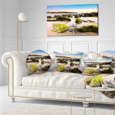 Amazing Landscape at Noraha Head Seashore Throw Pillow Size: 16 x 16